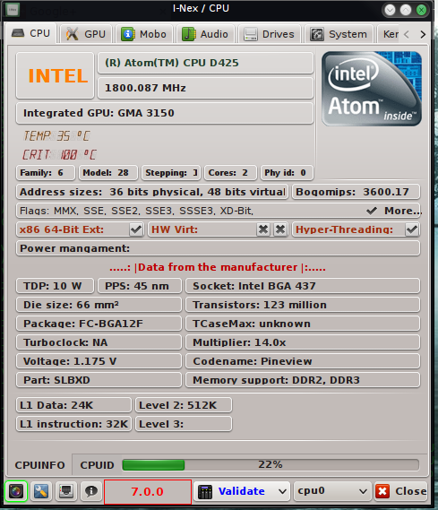 Wykrywanie temperatury CPU w I-Nex